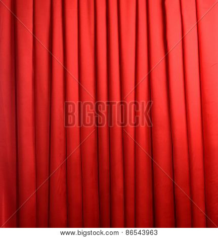 Red Curtain on white background