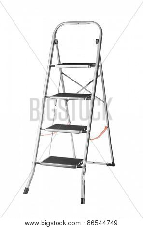 Metal ladder isolated on white background