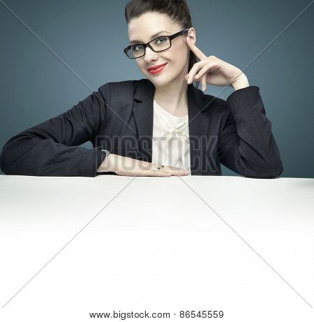 Young office worker having an idea