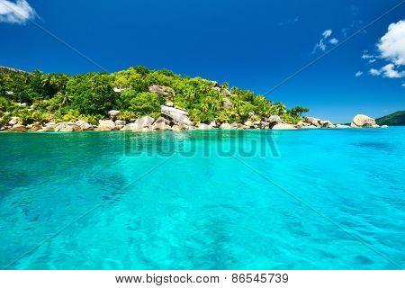 Beautiful landscape at Seychelles, La Digue