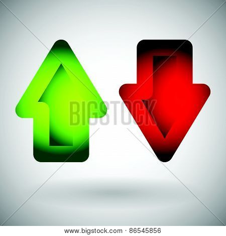Up - Down Arrow Vector
