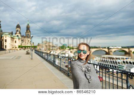Beautiful urban woman in Dresden, Germany