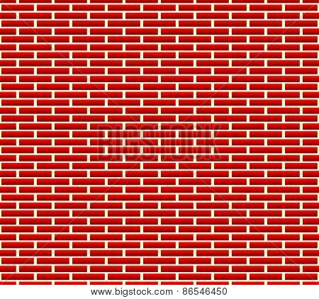 Seamless Brick Wall Pattern With Longer Bricks