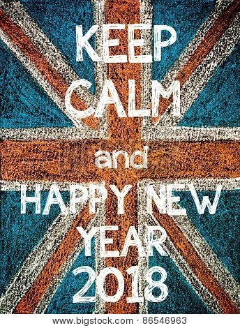 Keep Calm and Happy New Year 2018.