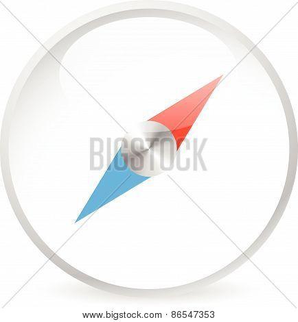 Bright Compass Icon