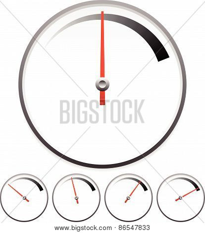 Dial Templates For Gauge Concept Set At 5 Stages