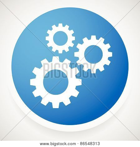 Icon With Gears, Gearwheels, Cogwheels For Maintenance, Repair, Mechanism, Development Or Settings C
