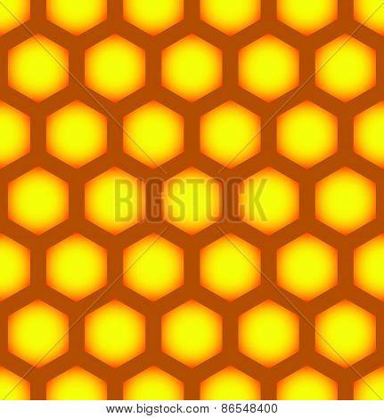 Honeycomb Repeatable Pattern, Seamless Hexagonal Pattern.