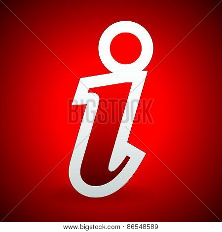 Info, Information Icon, Sign Over Background In Bright Red