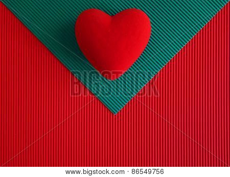 Envelope Textured Paper With Heart