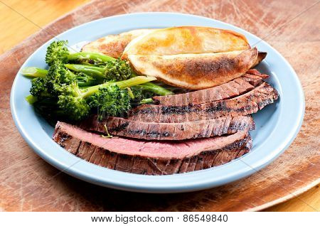 Rare Flank Steak