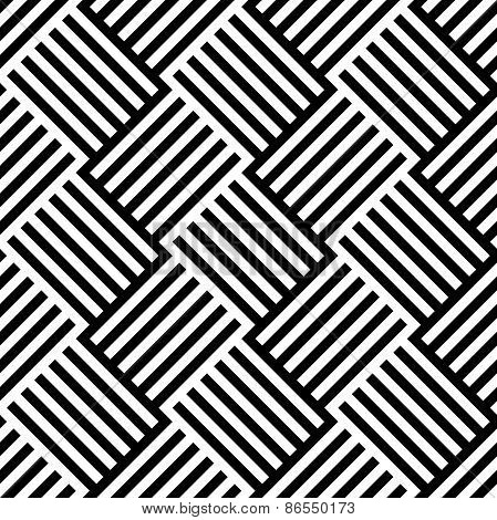 Black And White Pattern With Alternating Lined Squares
