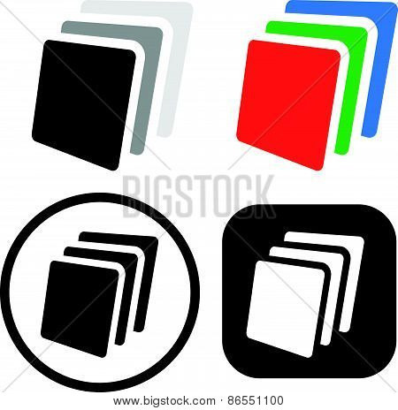 Stack, Sheets Of Paper Icon / Symbol Set