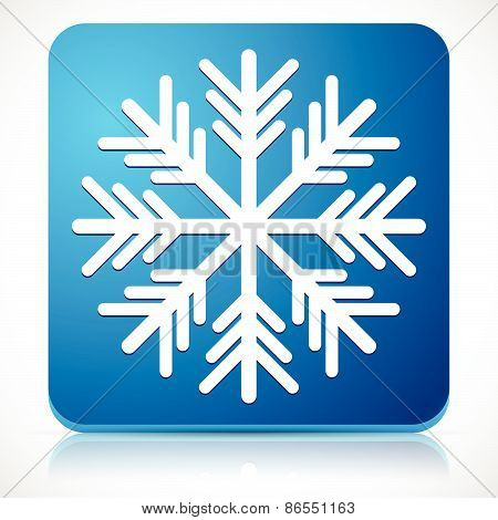 Snowflake Icon For Cold Weather Or Cold Concepts