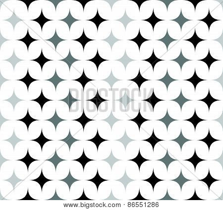 Seamless Pattern With Spiky Shapes