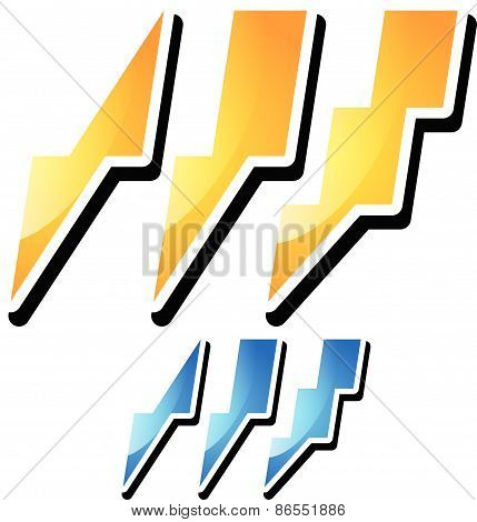 Thunderbolt, Lightening Icons