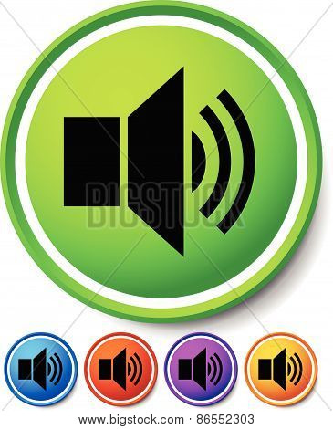 Speaker, Notification Icons. Speaker, Alarm Icon For Audio, Music Concepts Or For Loudness, Announce