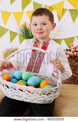 Boy With A Basket Of Eggs