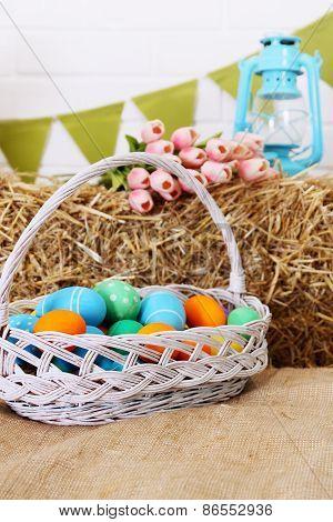 Big Basket With Eggs