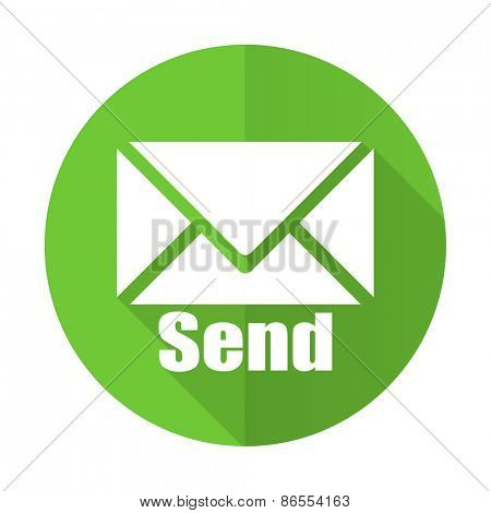 send green flat icon post sign