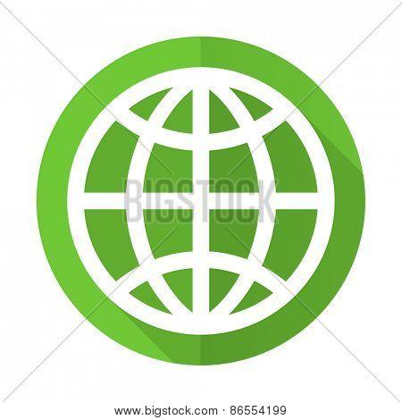 earth green flat icon