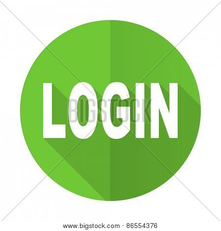 login green flat icon