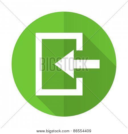 enter green flat icon