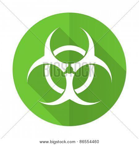 biohazard green flat icon virus sign