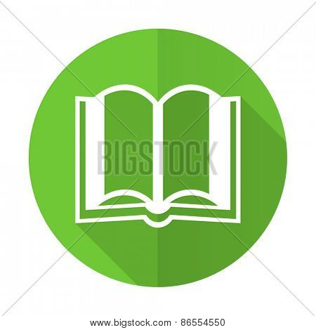 book green flat icon