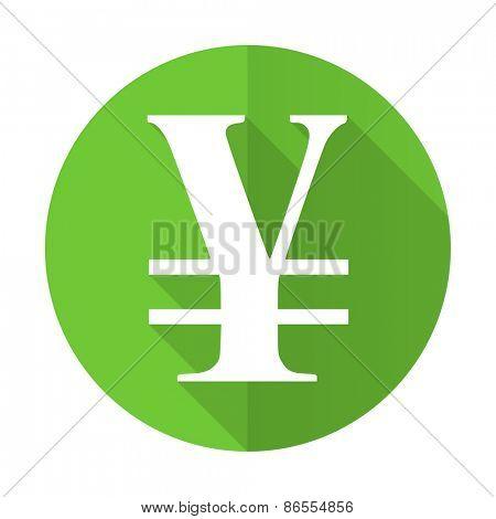 yen green flat icon