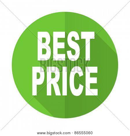 best price green flat icon