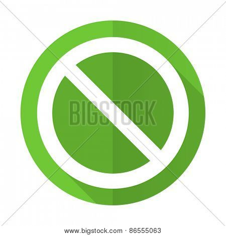 access denied green flat icon