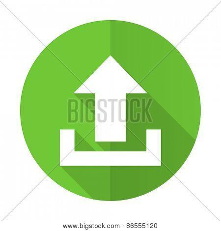 upload green flat icon