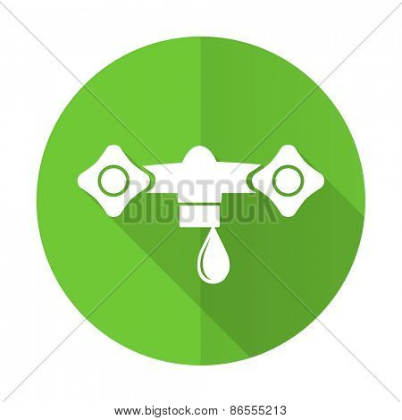 water green flat icon hydraulics sign