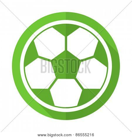 soccer green flat icon football sign