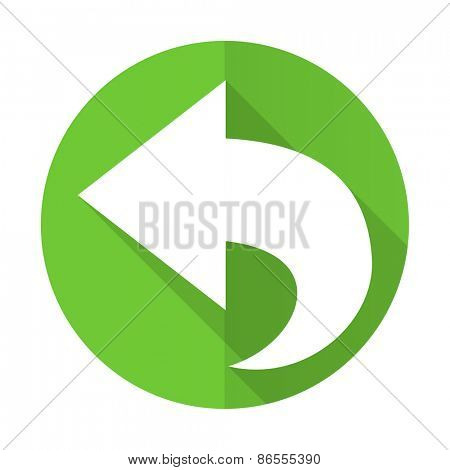 back green flat icon arrow sign