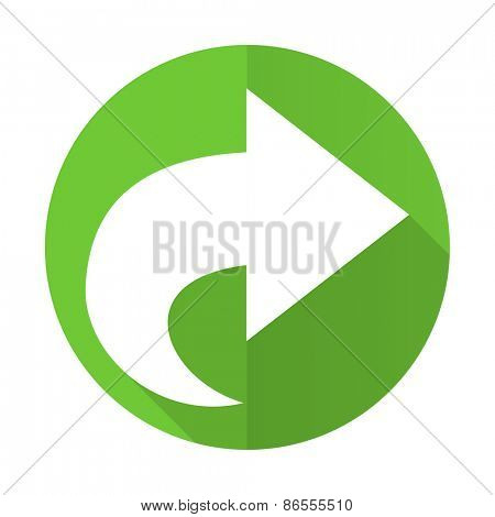 next green flat icon arrow sign