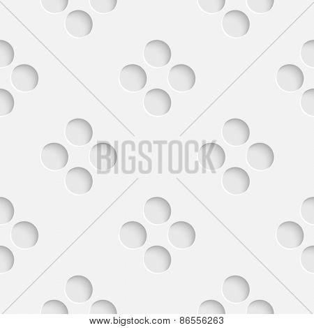 Seamless Circle Pattern. Vector Soft Background. Regular White Texture