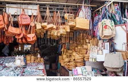 Souvenirs of Bali at the Ubud Market
