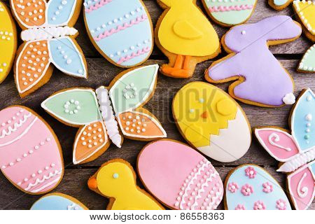 Delicious Easter cookies background