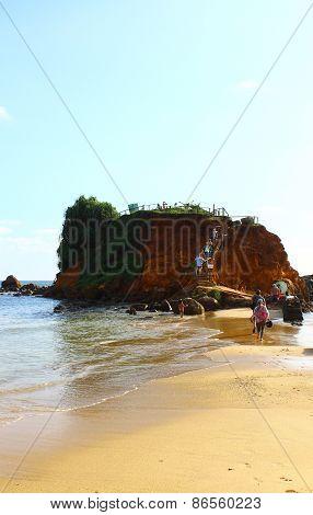 Rock on Mirissa beach, Sri Lanka