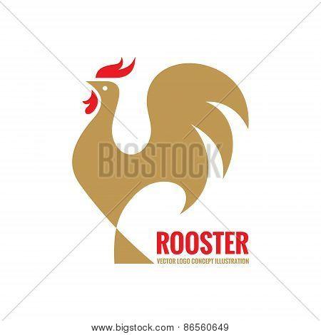 Rooster vector logo concept. Bird cock minimal illustration. Cock logo. Vector logo template.