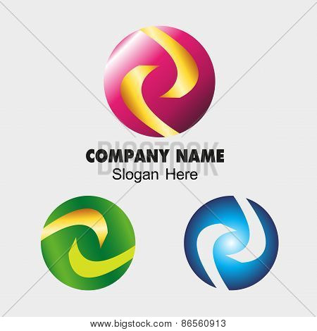 Business Abstract Sphere sign templates Technology icon