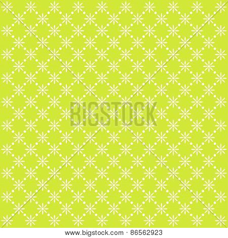 Green Seamless Vector Floral Pattern
