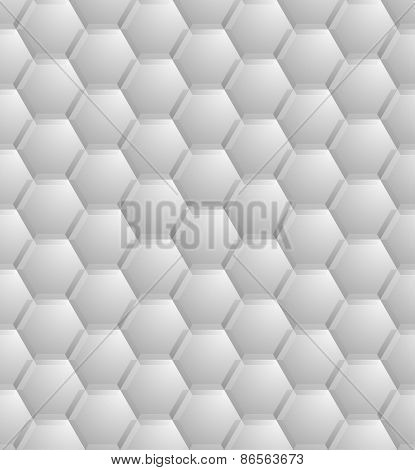 detailed illustration of a seamless abstract hexagon pattern, eps10 vector