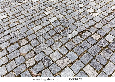 Pavement Of Granite Stones