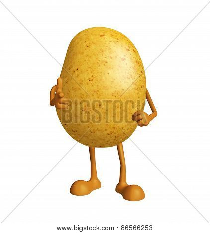 Potato With Pointing Pose