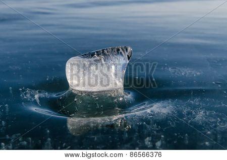 ice blue Baykal statuette