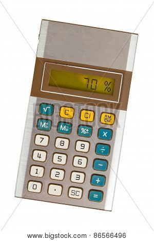 Old Calculator Showing A Percentage - 70 Percent