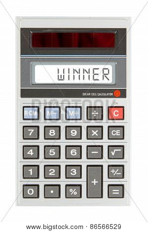Old Calculator - Winner